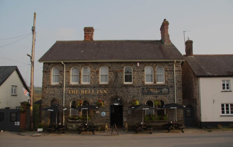 The front of the Bell Inn Chittlehampton