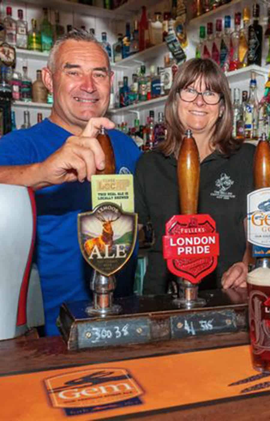 Mark & Lyn Jones of The Bell Chittlehampton
