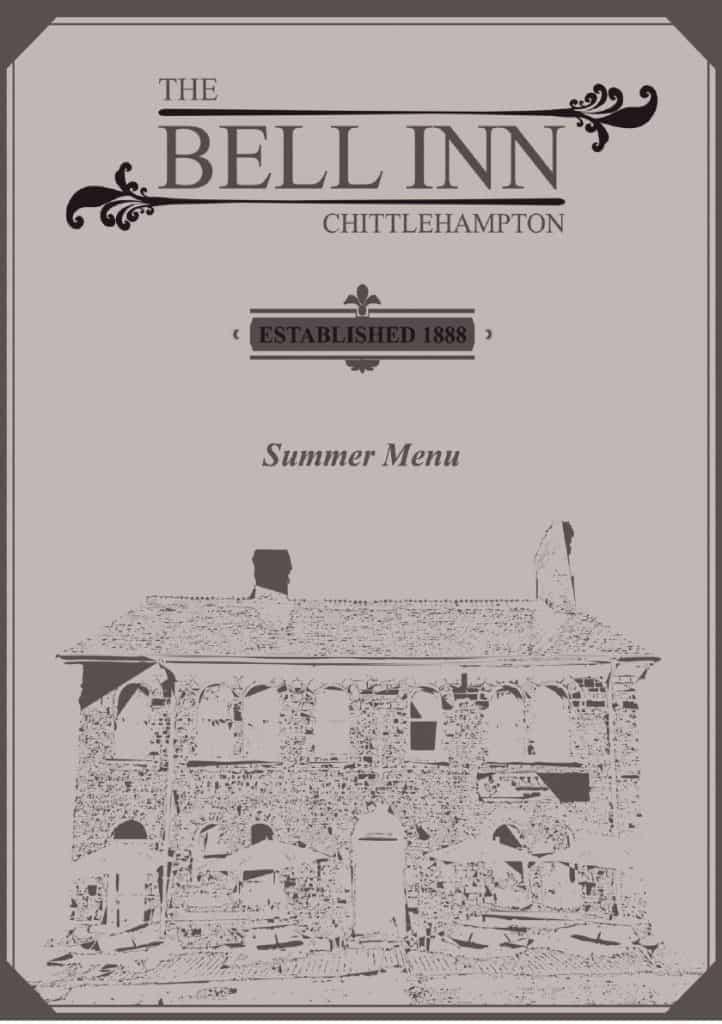 The Bell Inn Chittlehampton Summer 2021 Menu 1